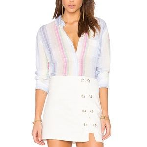 Rails | Charli Rainbow Stripe Button Down Shirt